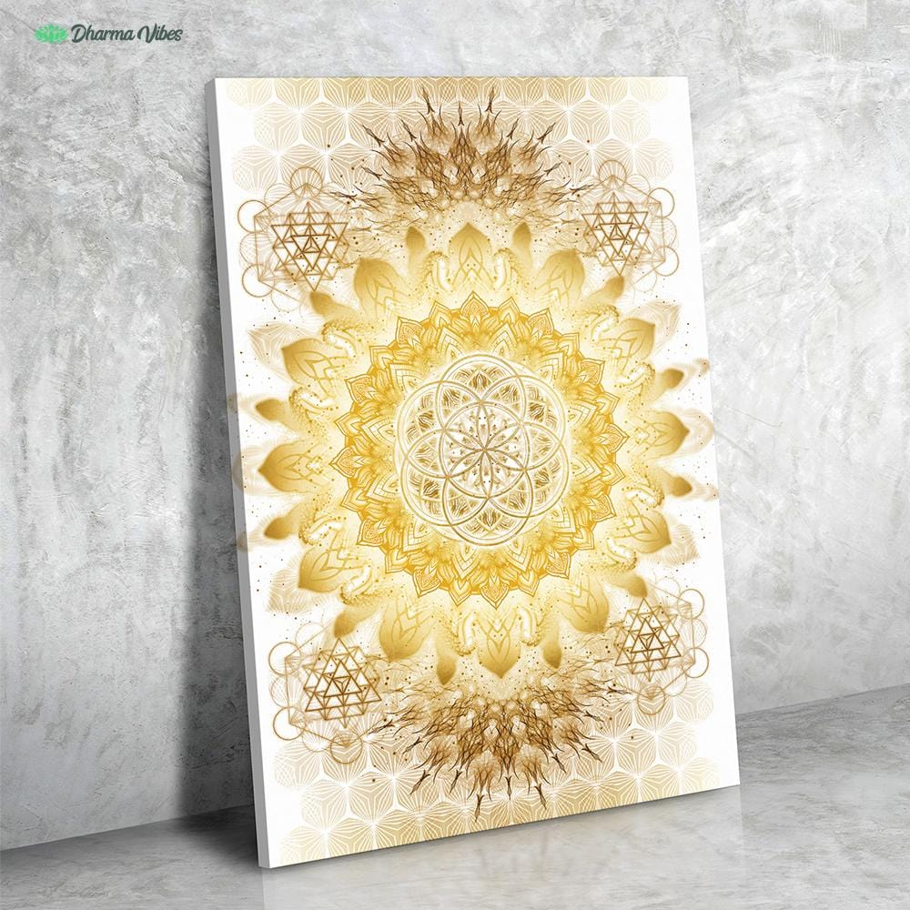 Raising Clear Gold by YantrArt Design 1-Piece Canvas