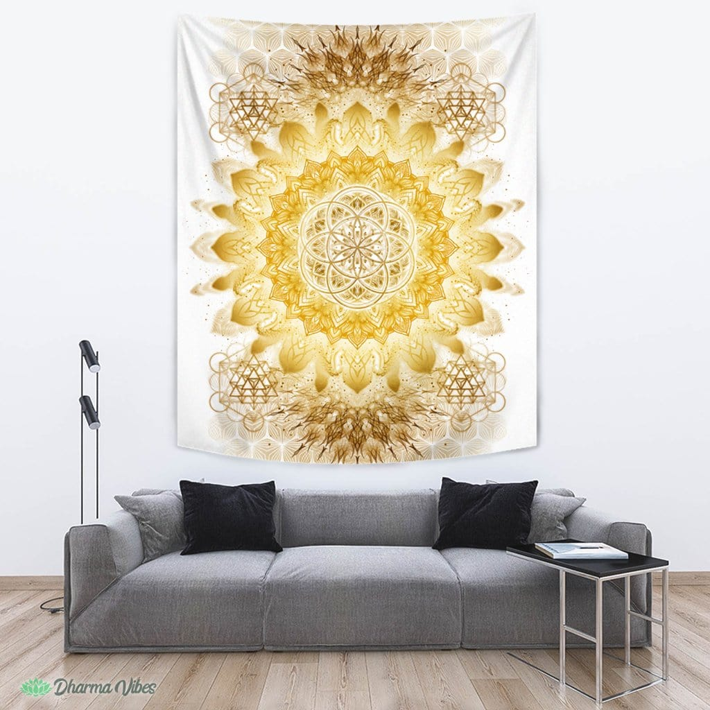 Raising Clear Gold by YantrArt Design Tapestry
