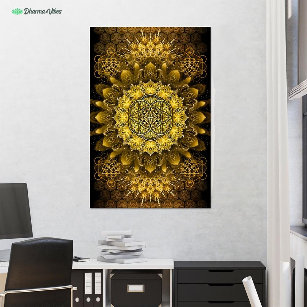 Raising Gold by YantrArt Design 1-Piece Canvas
