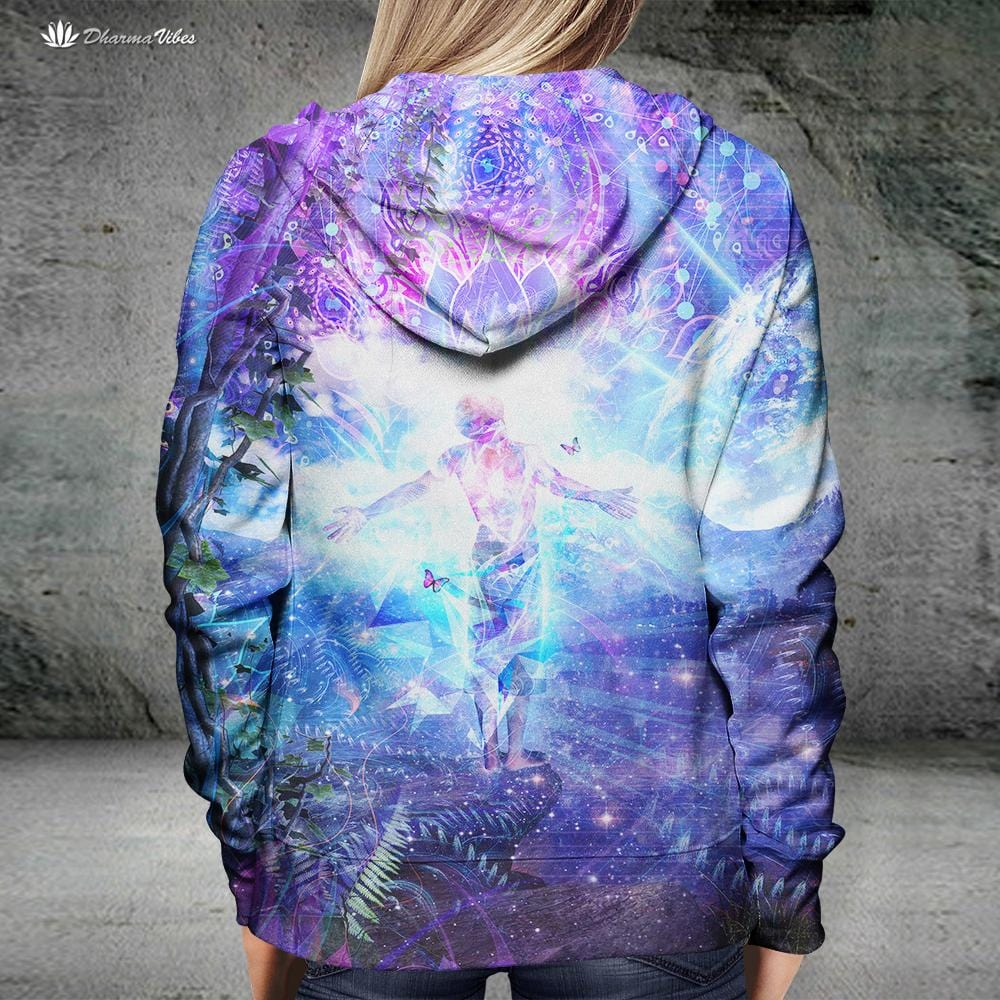 Ritual Night Stars by Cameron Gray Visionary Hoodie