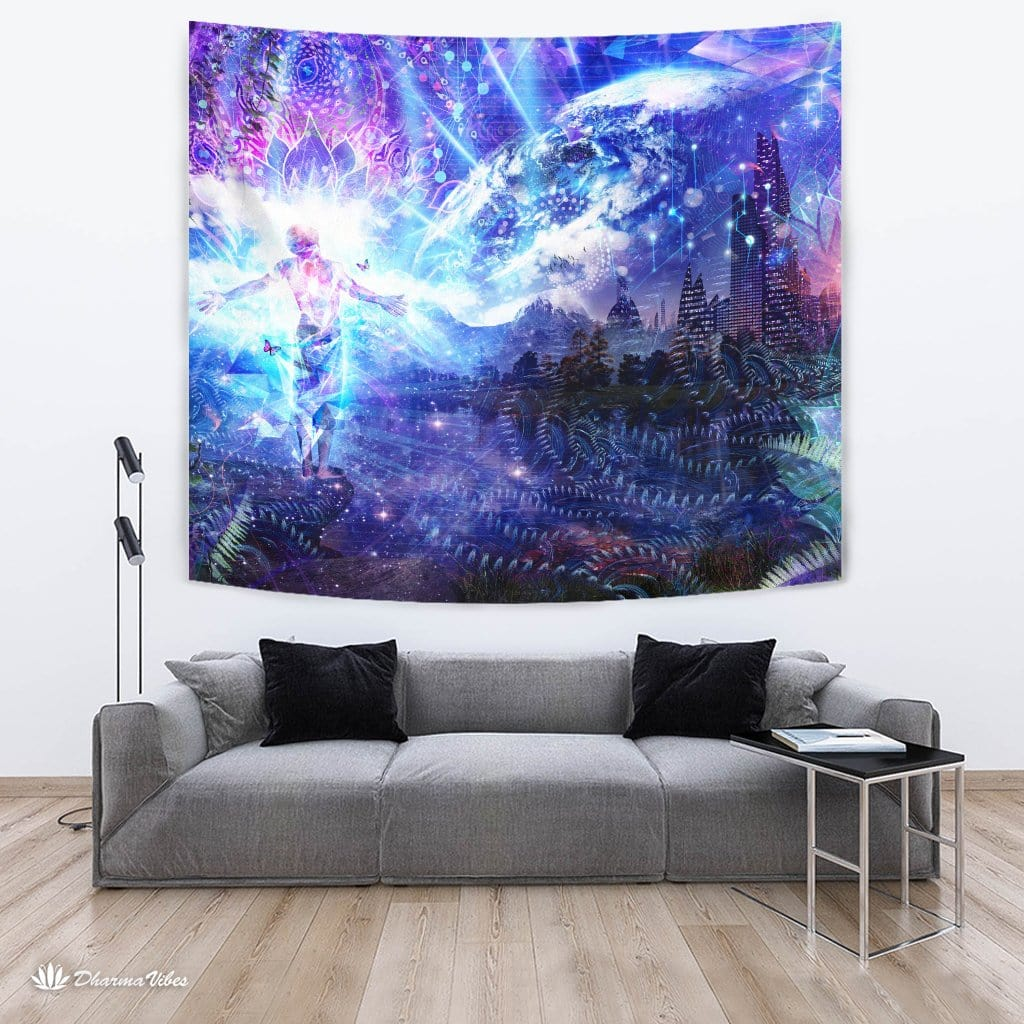 Ritual Night Stars by Cameron Gray Visionary Tapestry