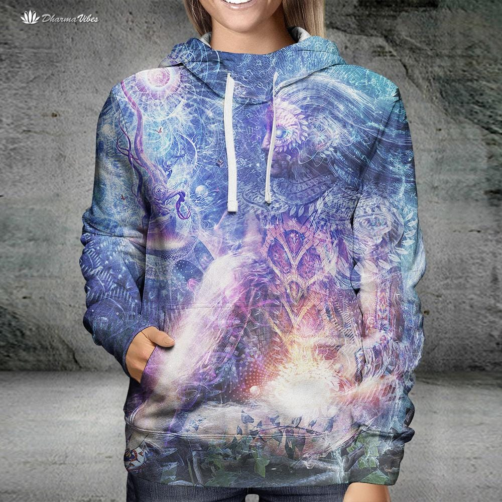 Shoulders and Giants by Cameron Gray Visionary Hoodie