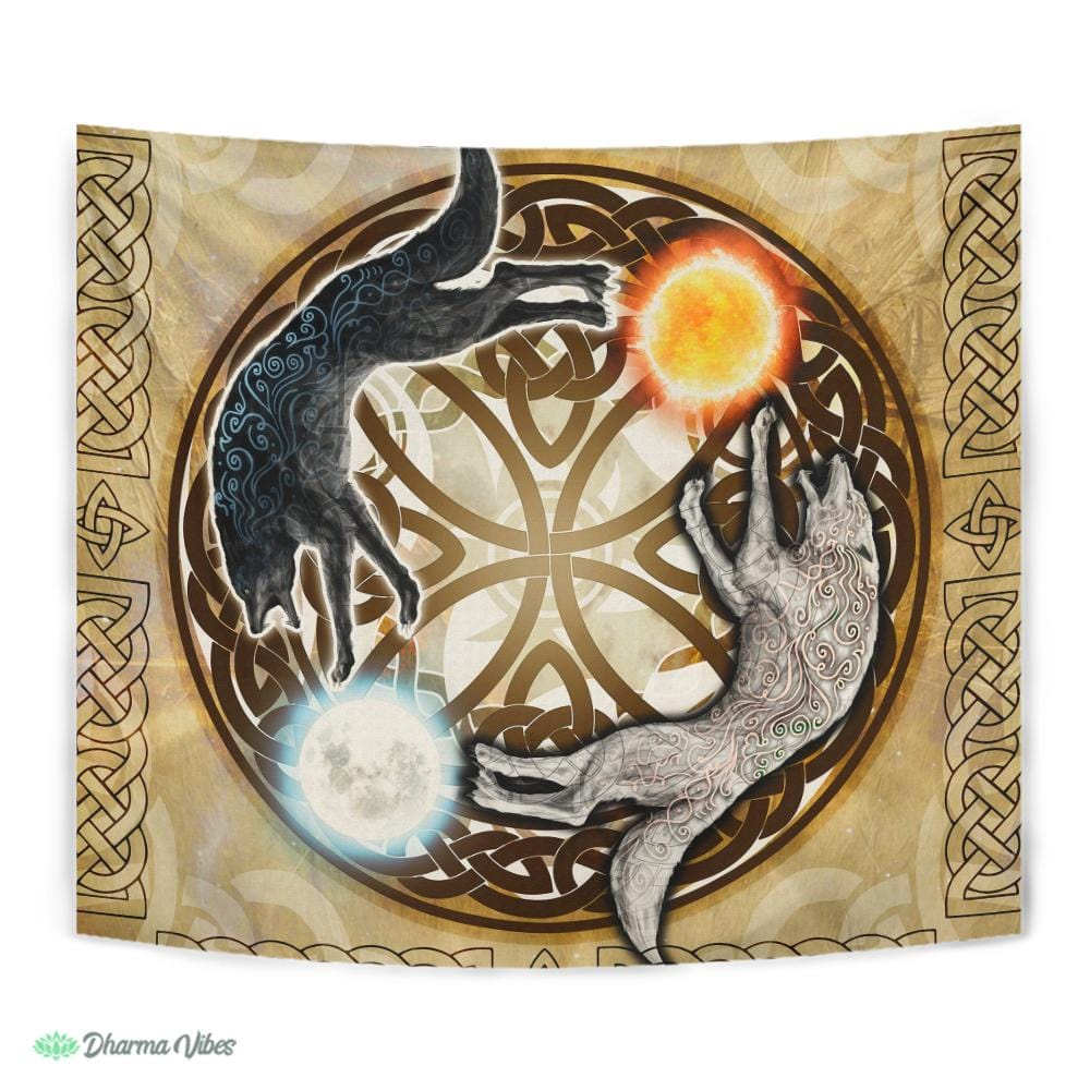 SKOL and HATI by McAshe Tapestry