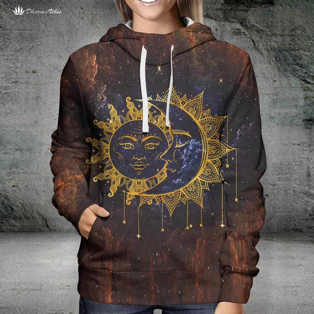 Sun and Moon by McAshe Hoodie