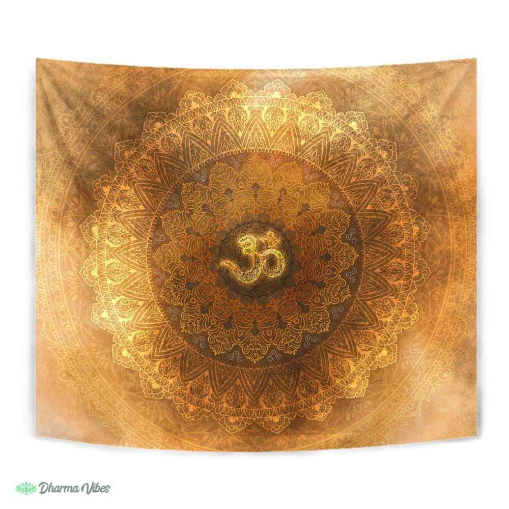 Sage Golden OM by McAshe Tapestry