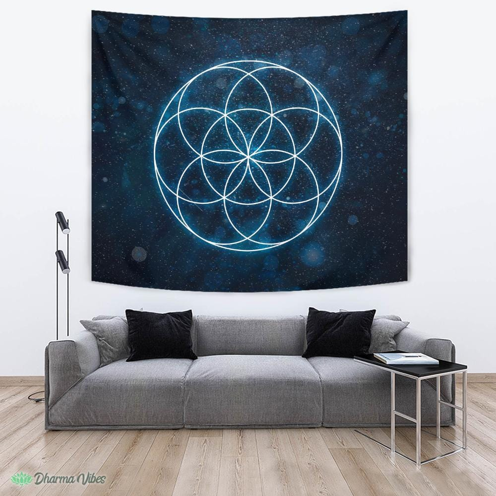 Seed of Life Sacred Geometry by McAshe Tapestry