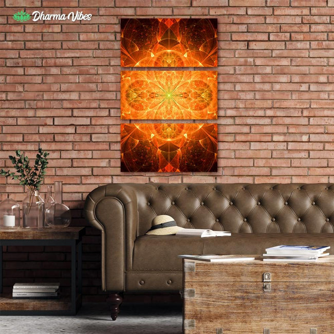Solar Frequence by YantrArt 3-Piece Canvas