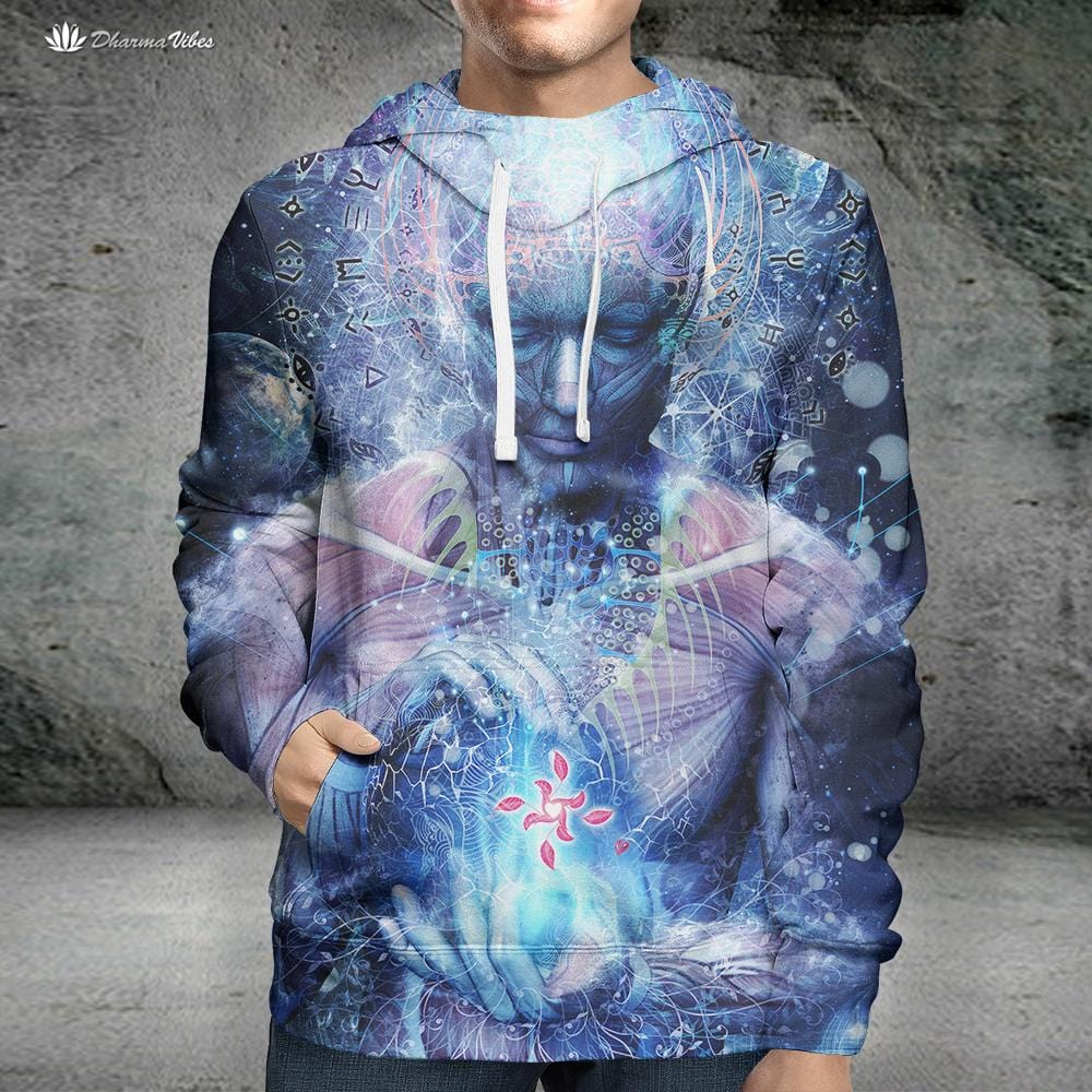 Silence Seekers by Cameron Gray Visionary Hoodie