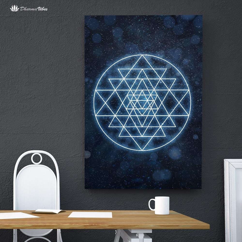 Sri Yantra Sacred Geometry by McAshe 1-Piece Canvas