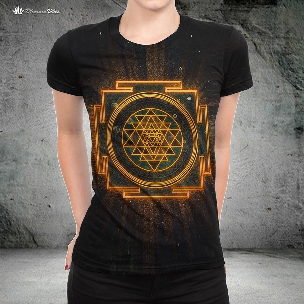 Incandescent Sri Yantra by McAshe T-Shirt