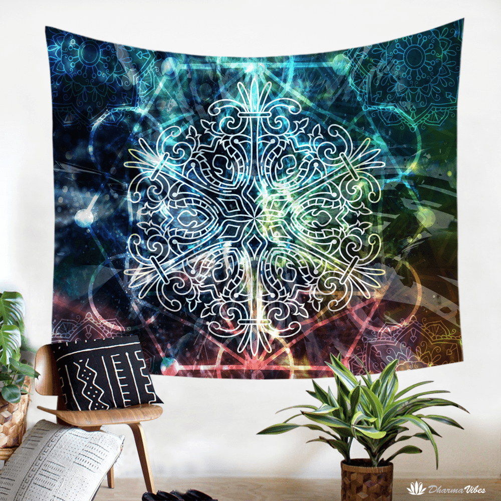Sacred Geometry Mandala Tapestry by McAshe