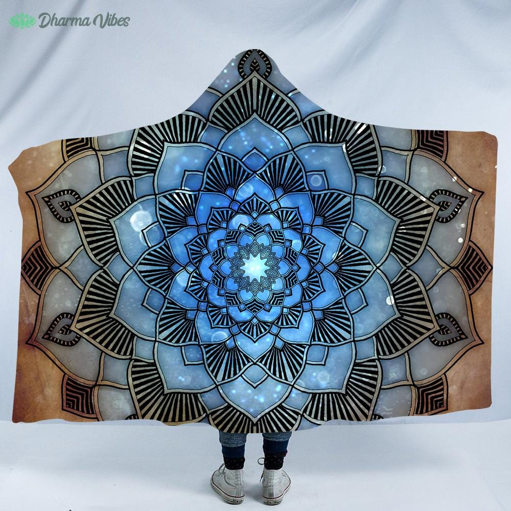 Serenity Mandala by McAshe Hooded Blanket