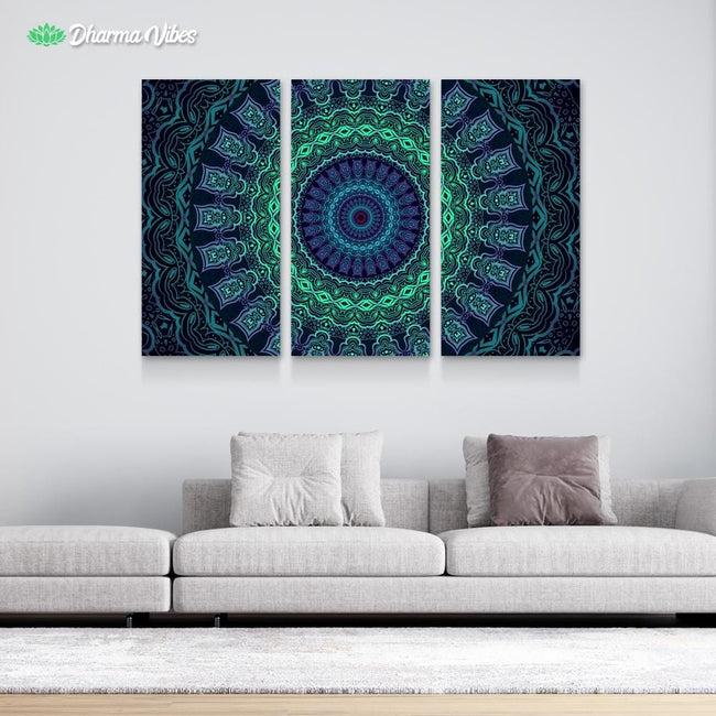 Set and Setting 5 by Cameron Gray 3-Piece Canvas