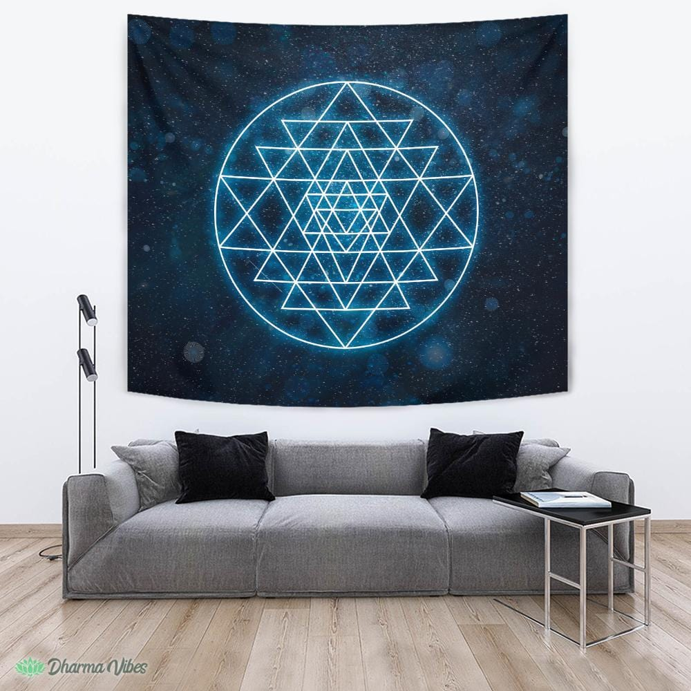 Sri Yantra Sacred Geometry by McAshe Tapestry