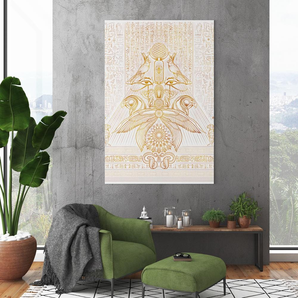 THE AUSPICES OF HORUS - CLEAR GOLDEN by YantrArt 1-Piece Canvas