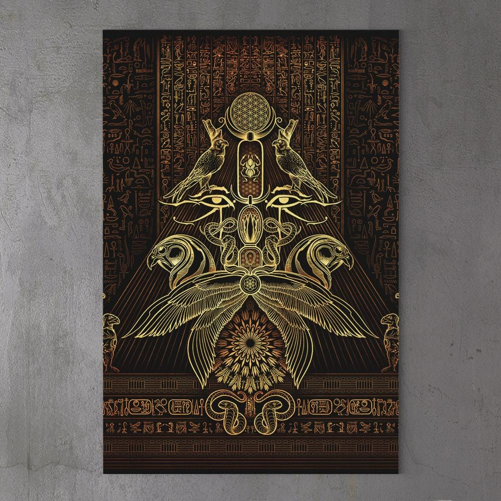 THE AUSPICES OF HORUS - GOLDEN by YantrArt 1-Piece Canvas