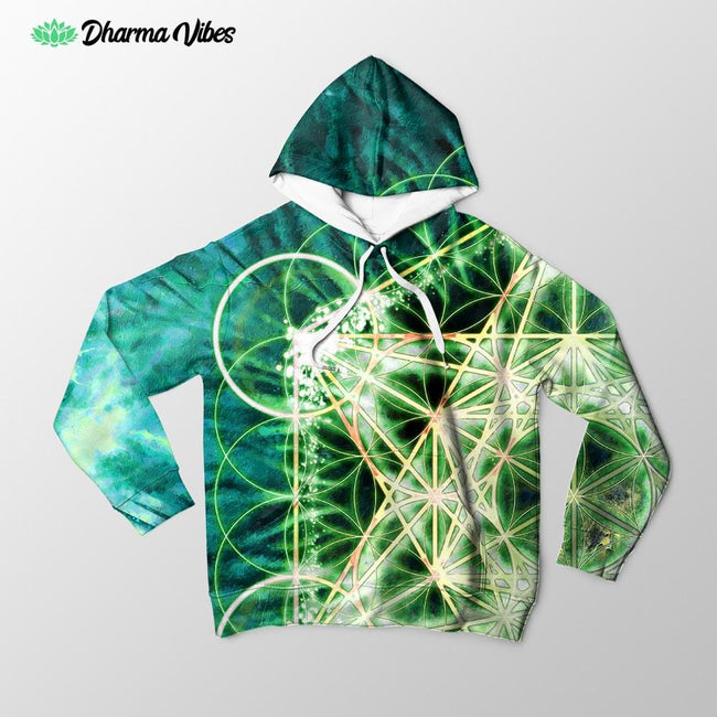 The Greenish Metatons by Yantrart Hoodie