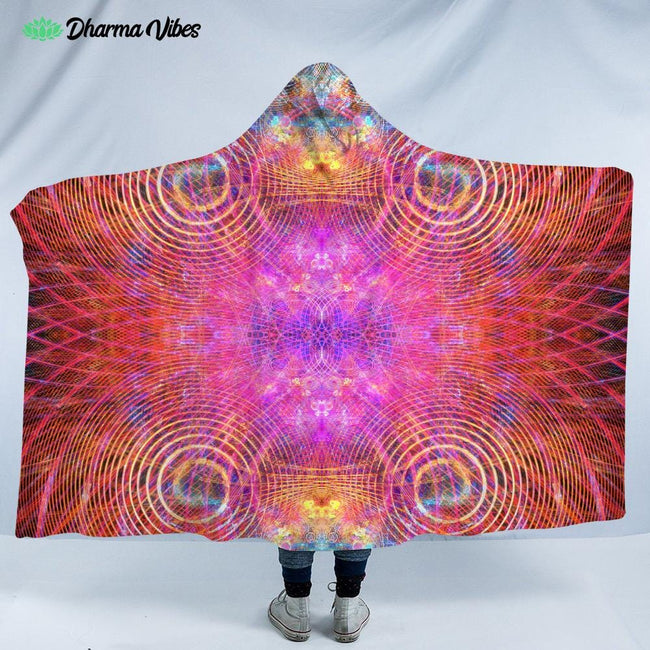 The Red Psychocosmos by Yantrart Hooded Blanket
