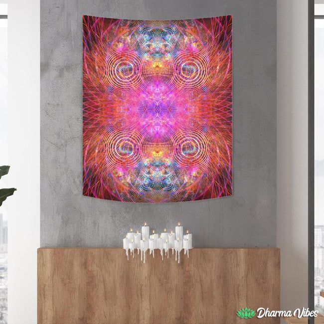 THE RED PSYCHOCOSMOS by YantrArt Tapestry