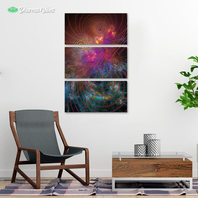 The Unfolded Cosmos by YantrArt 3-Piece Canvas