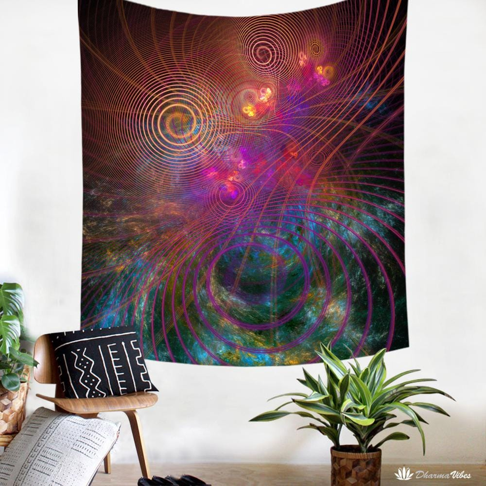 The Unfolded Cosmos by YantrArt Design Tapestry
