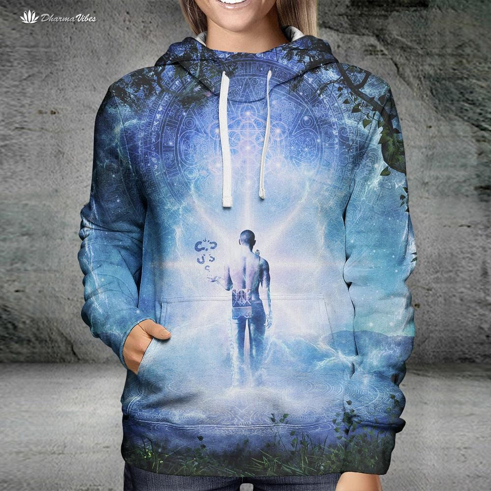 The Journey Begins by Cameron Gray Visionary Hoodie