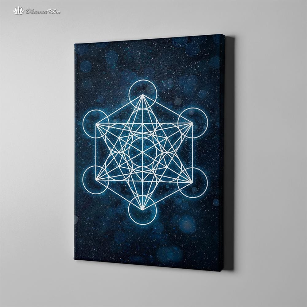 The Metatron Cube by McAshe Sacred Geometry 1-Piece Canvas
