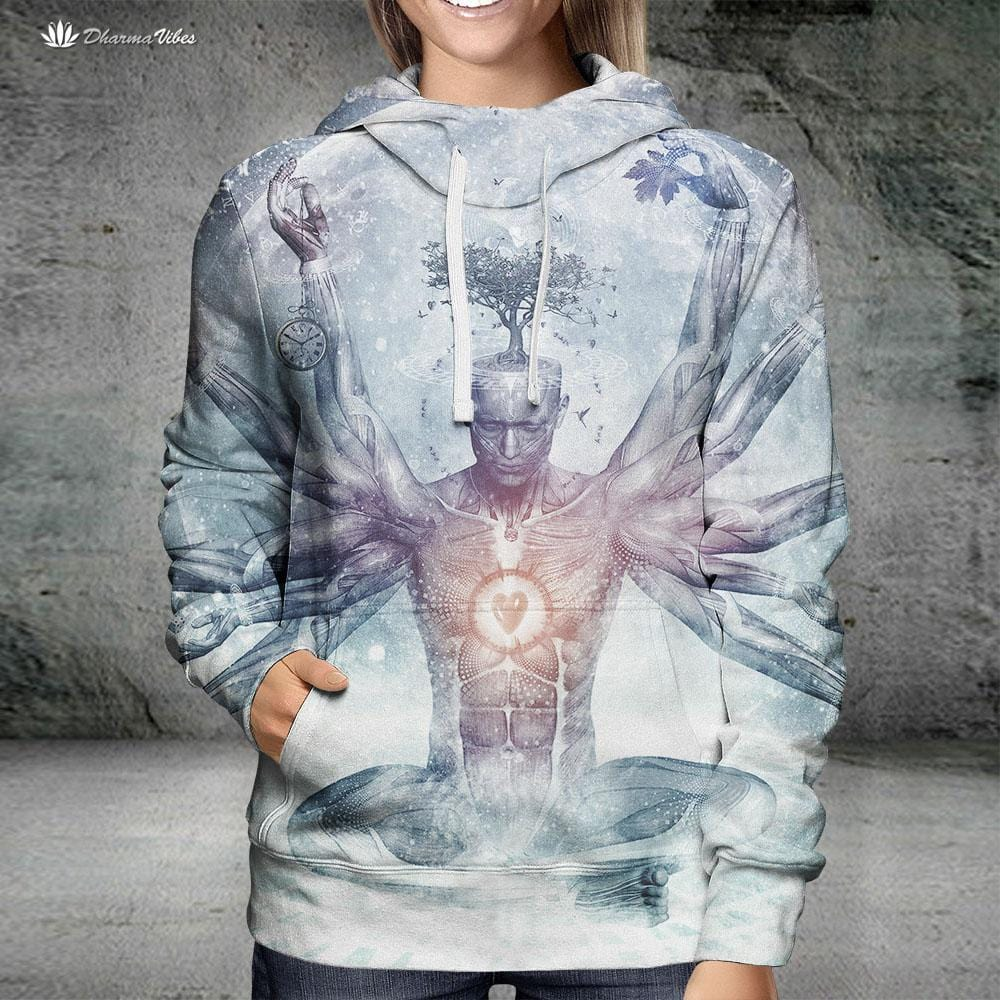 The Neverending Dreamer by Cameron Gray Visionary Hoodie
