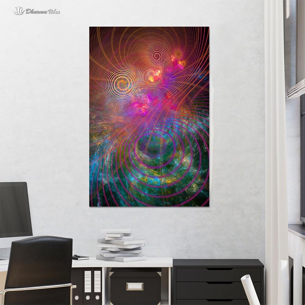 The Unfolding Cosmos by YantrArt 1-Piece Canvas