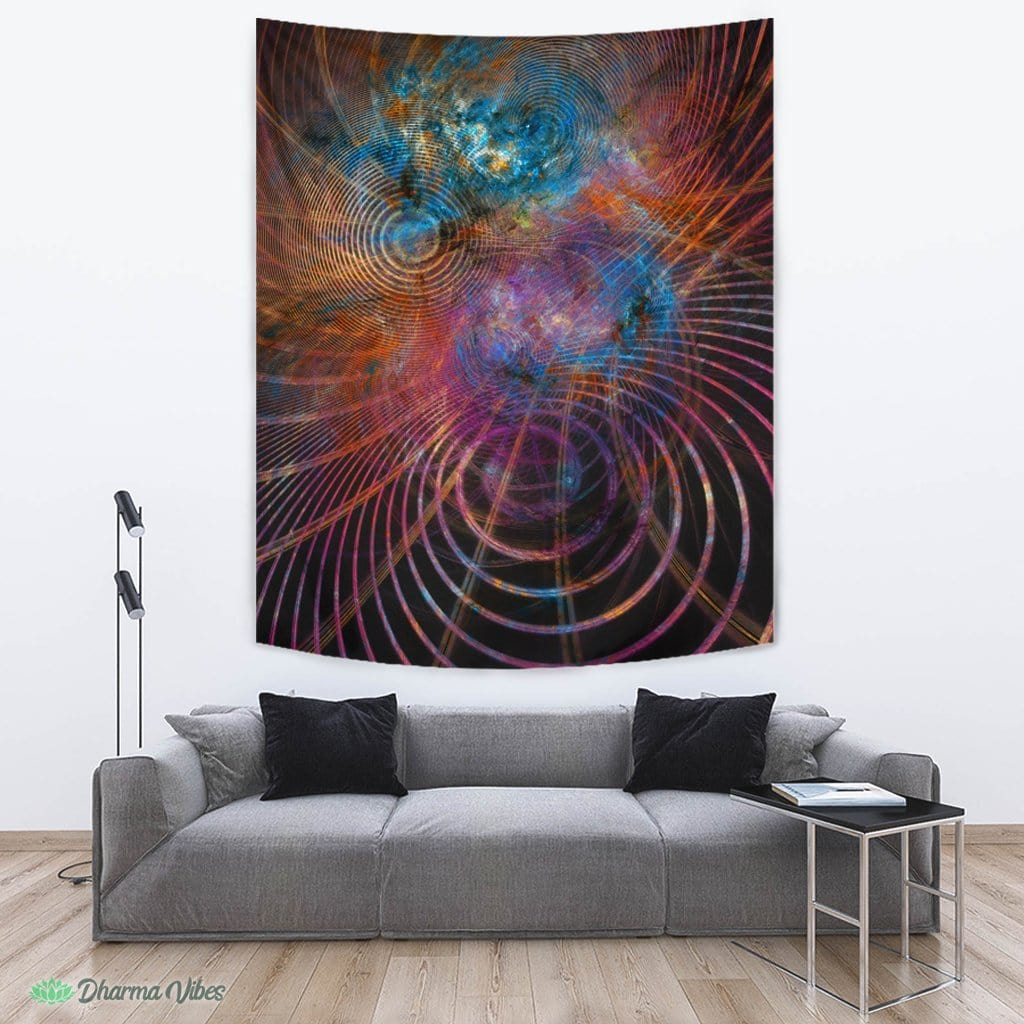 The Unfolded Cosmos V2 by YantrArt Design Tapestry