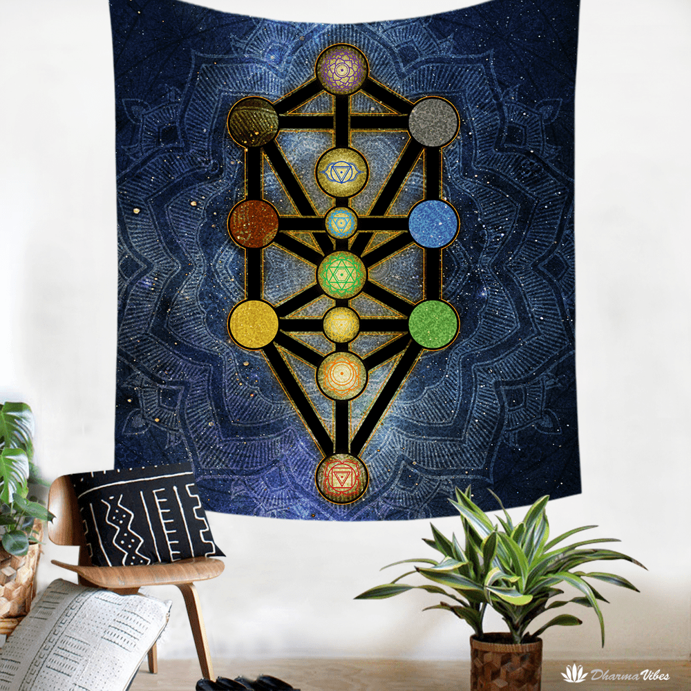Tree of Life Kabbalah by McAshe Tapestry