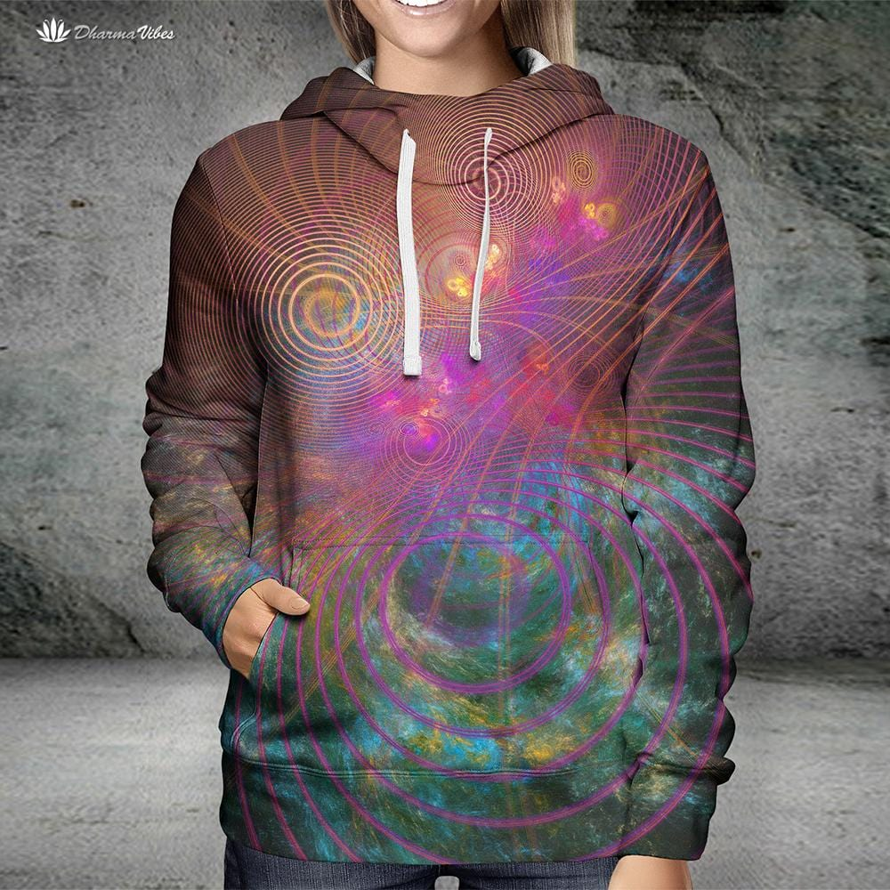 The Unfolded Cosmos by YantrArt Hoodie