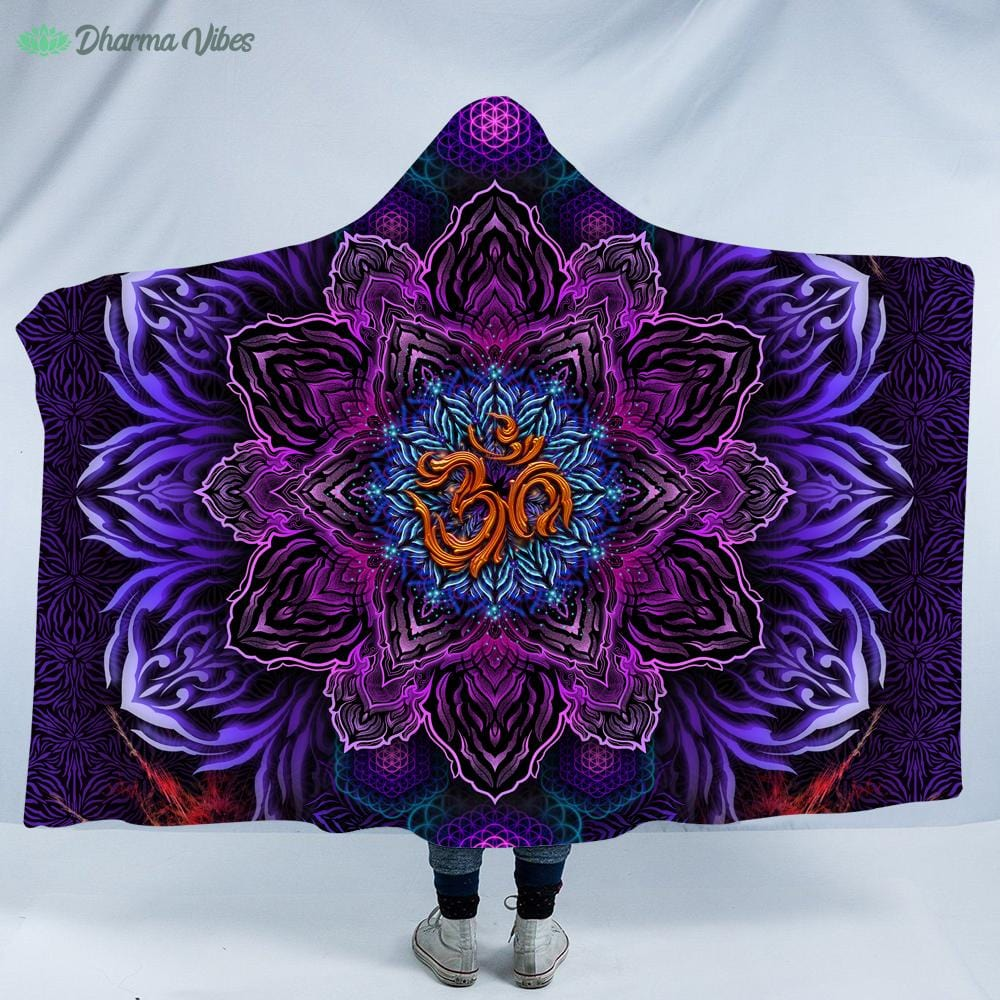 UNIVERSAL RESONANCE by YantrArt Design Hooded Blanket