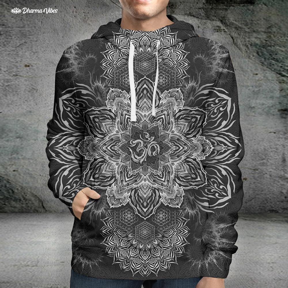 UNIVERSAL RESONANCE BW by YantrArt Design Hoodie