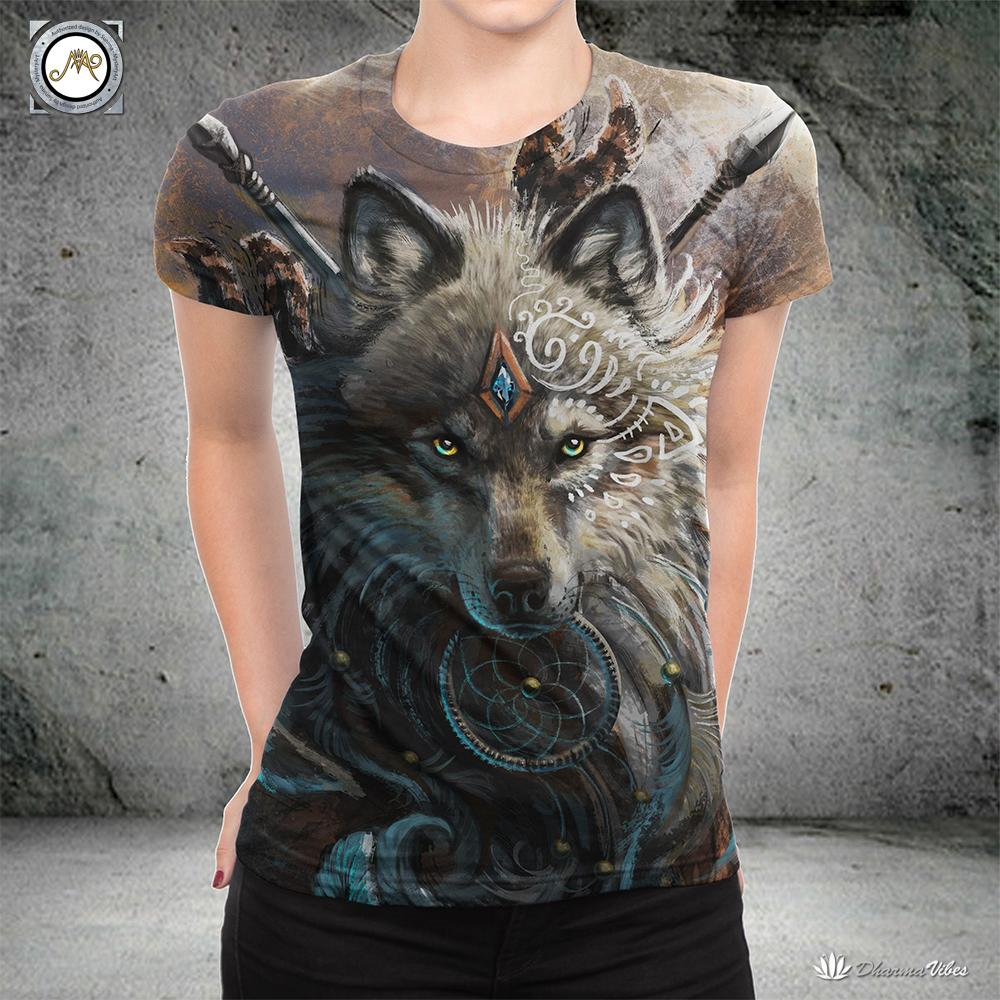 Wolf Warrior by SunimaArt Shirt