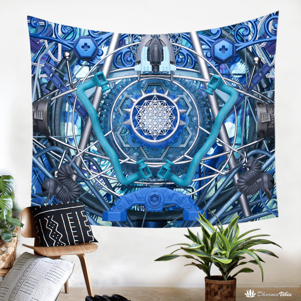 Water Dragon by LightWizard Visionary Tapestry
