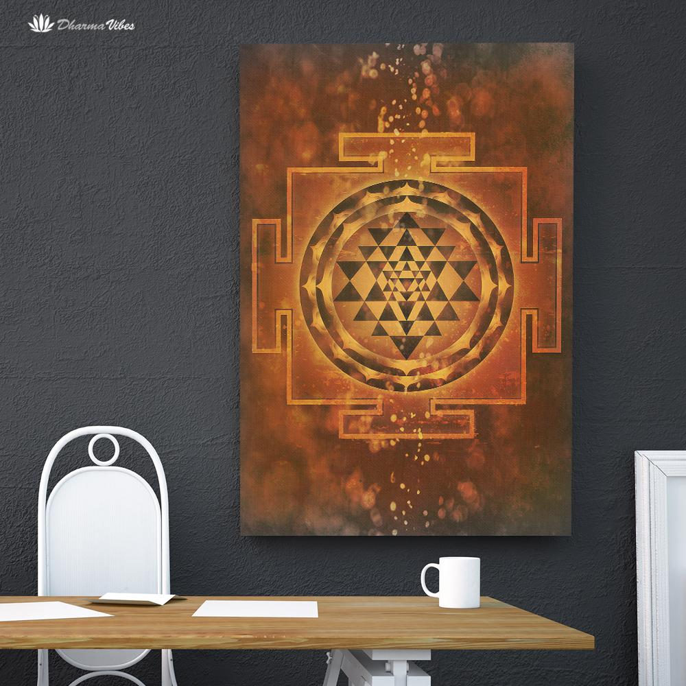 Sri-Yantra by McAshe 1-Piece Canvas Art