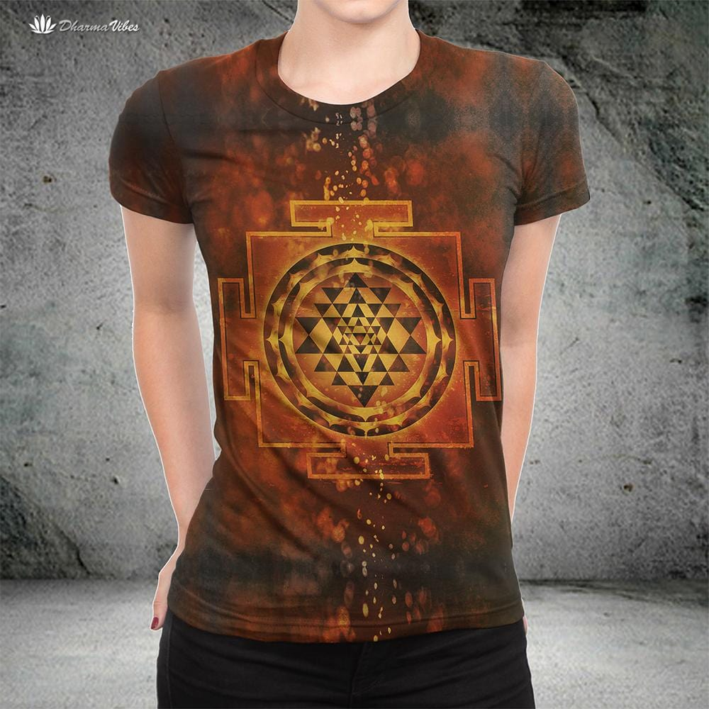 Sri Yantra by McAshe Yoga T-Shirt