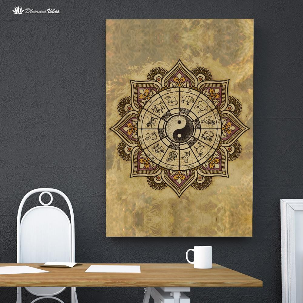Zodiac Yin Yang by McAshe 1-Piece Canvas