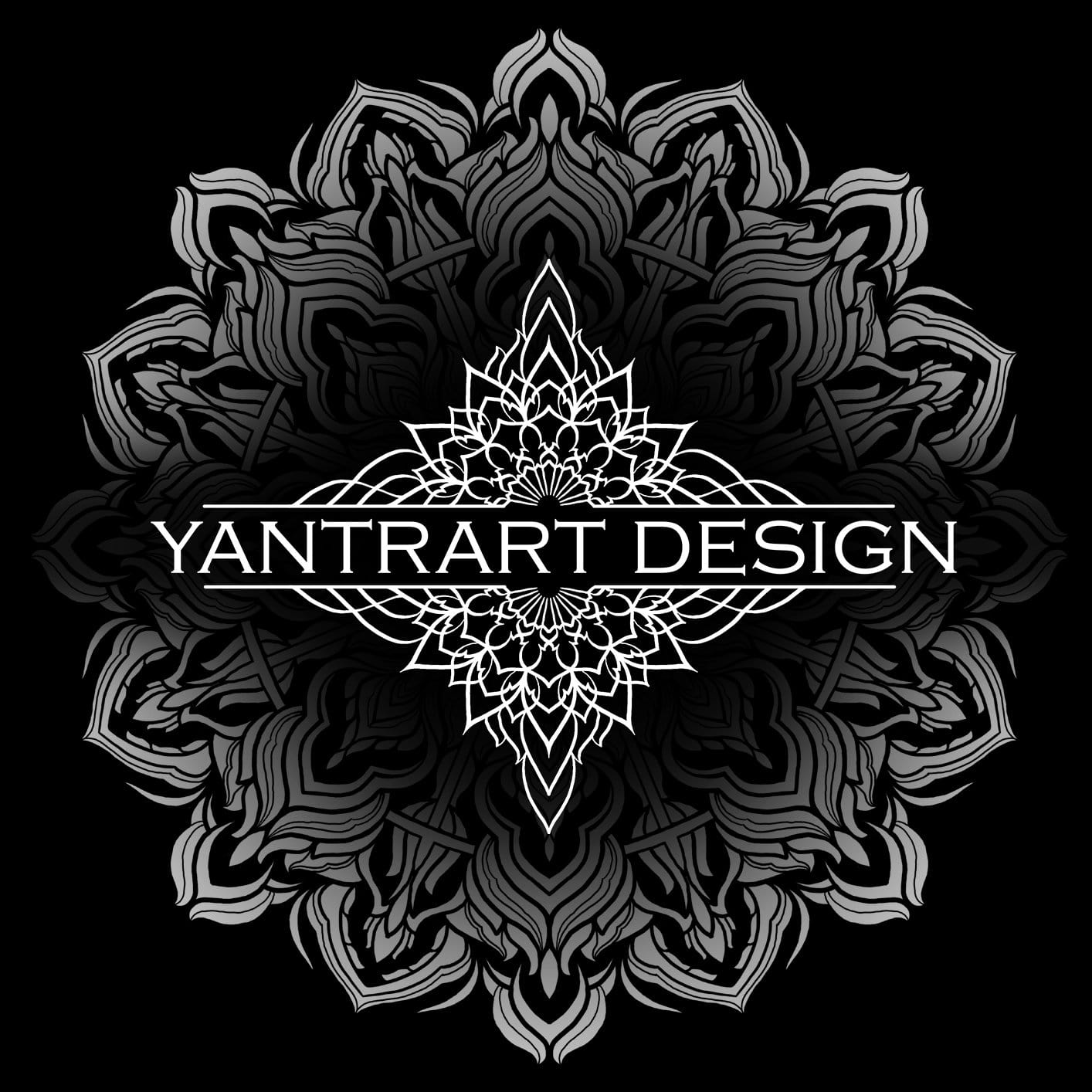 Geometric Dark by YantrArt Design Hoodie