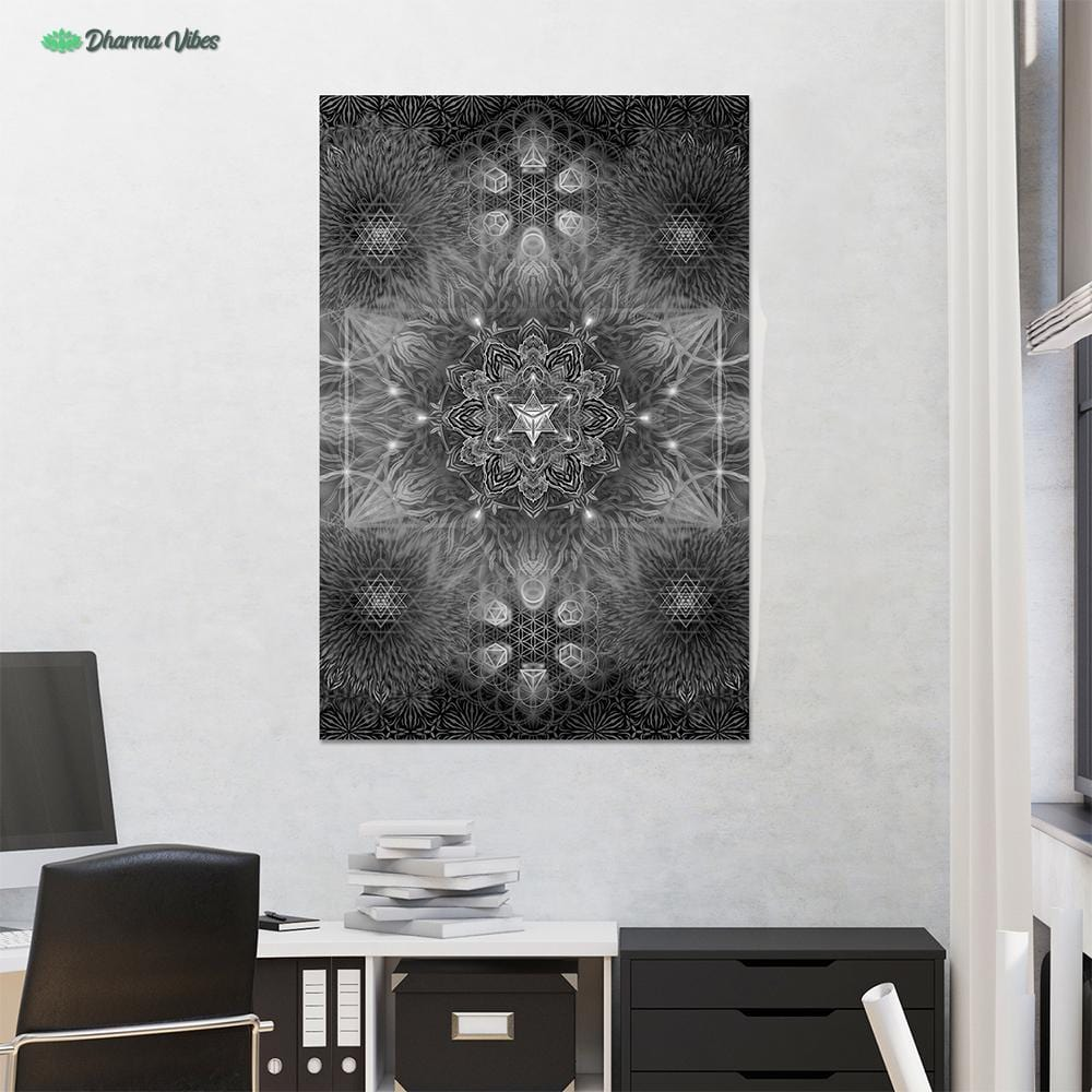Geometric Dark by YantrArt Design 1-Piece Canvas