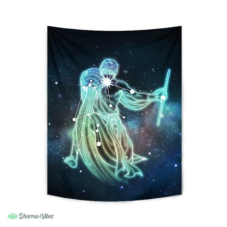 Aquarius Zodiac by McAshe Tapestry