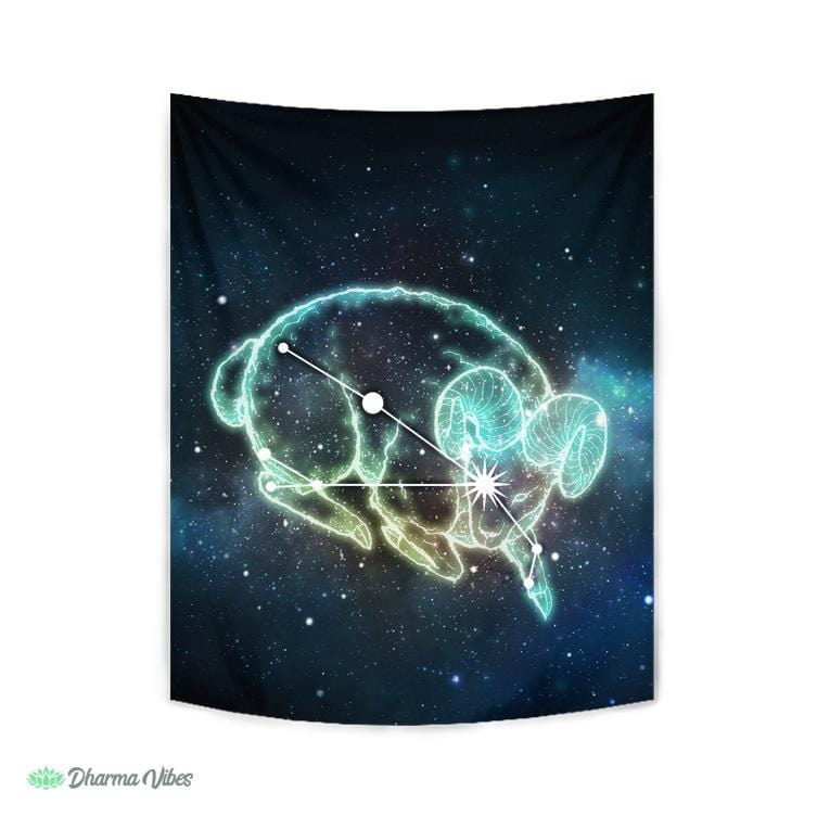 Aries Zodiac by McAshe Tapestry