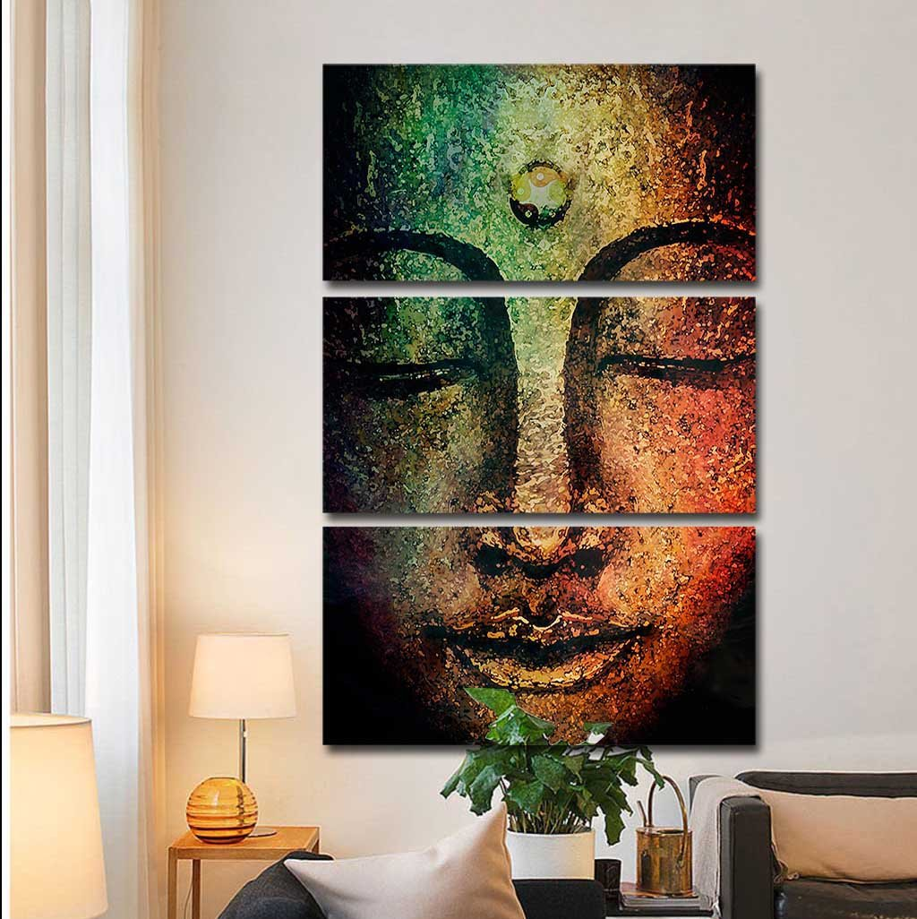 Buddha Serenity by McAshe 3-Piece Canvas Art