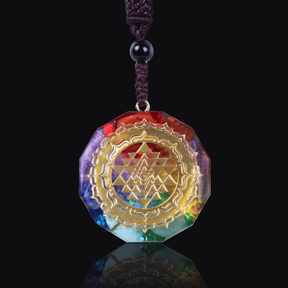 Sri Yantra Orgonite Quartz Necklace