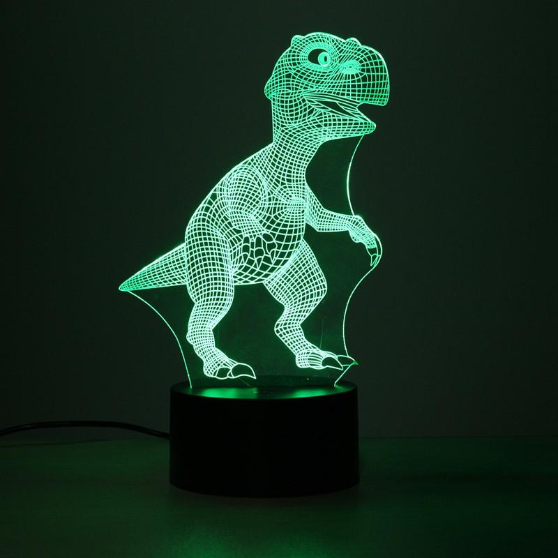 T-Rex Dinosaur Multi-Color 3D Lamp
