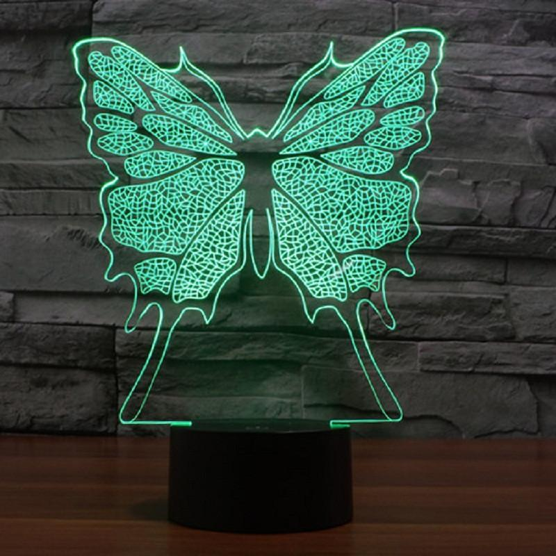 Butterfly Multi-Color 3D Lamp