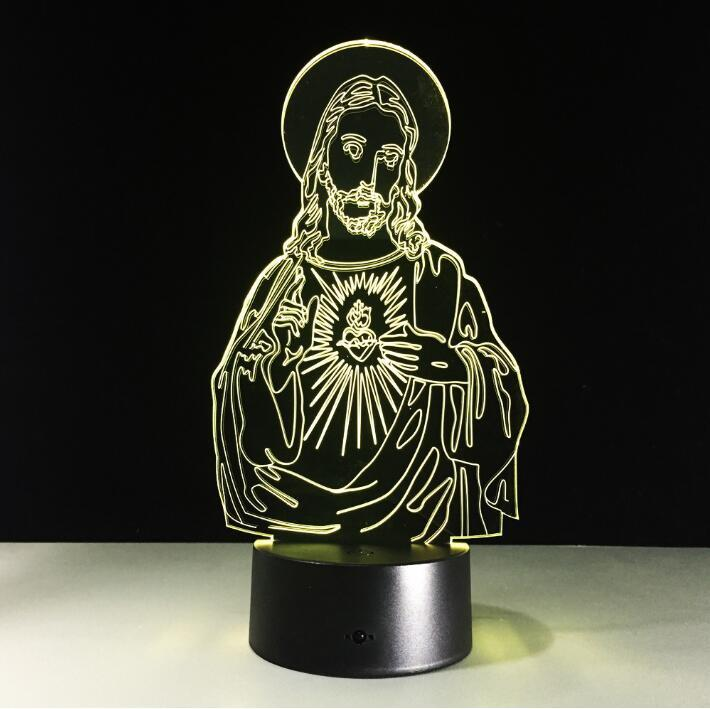 Jesus Multi-Color 3D Lamp