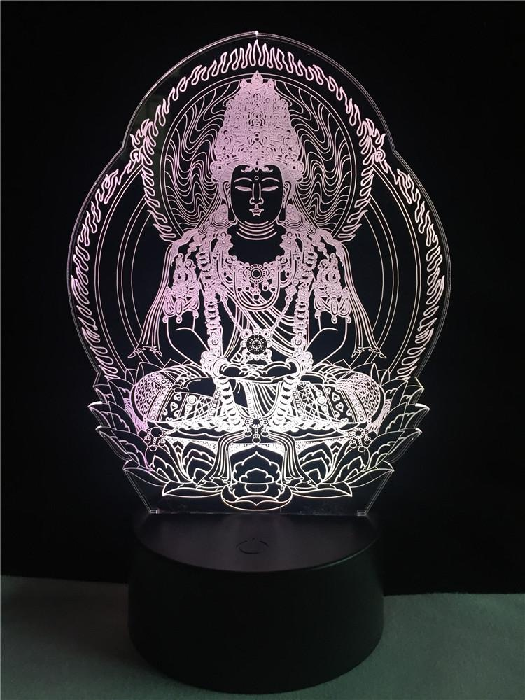 Buddha Meditation Multi-Color 3D Lamp