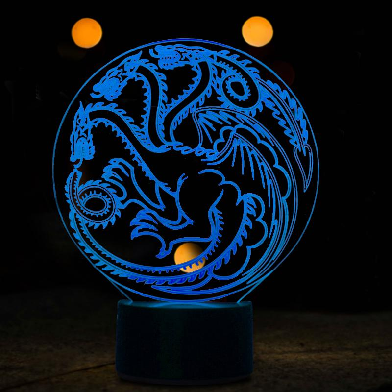 Dragon Multi-Color 3D Lamp